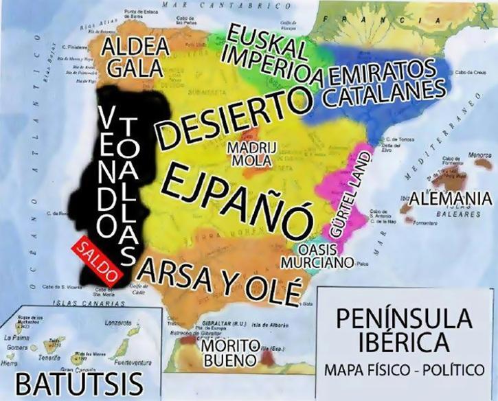 mapa fisico politico españa