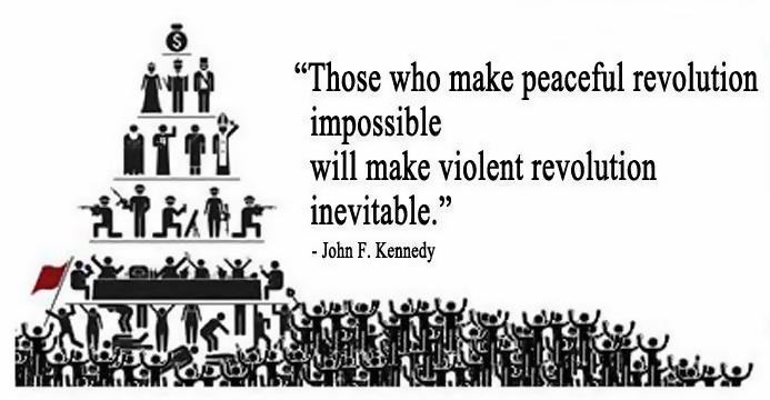 Those who make peaceful revolution impossible will make violent revolution inevitable.