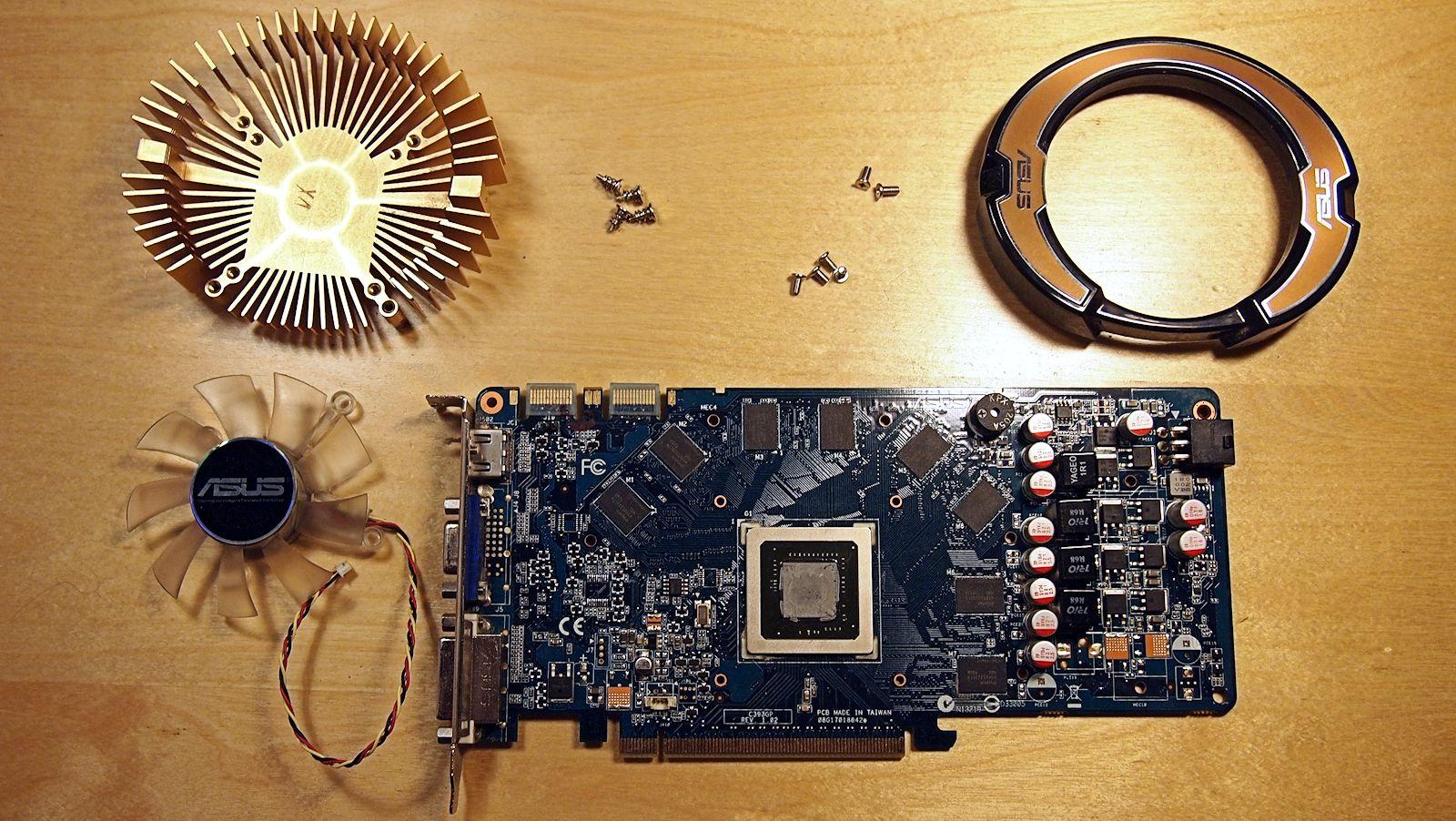 Asus Nvidia 9800 GT deconstruida