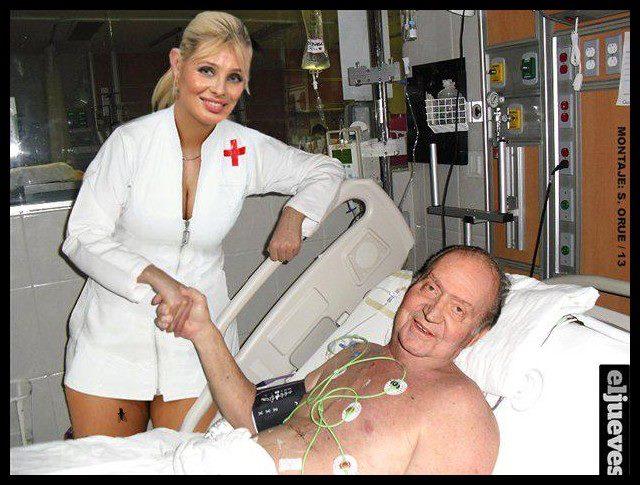 el rey y la enfermera que le cuida