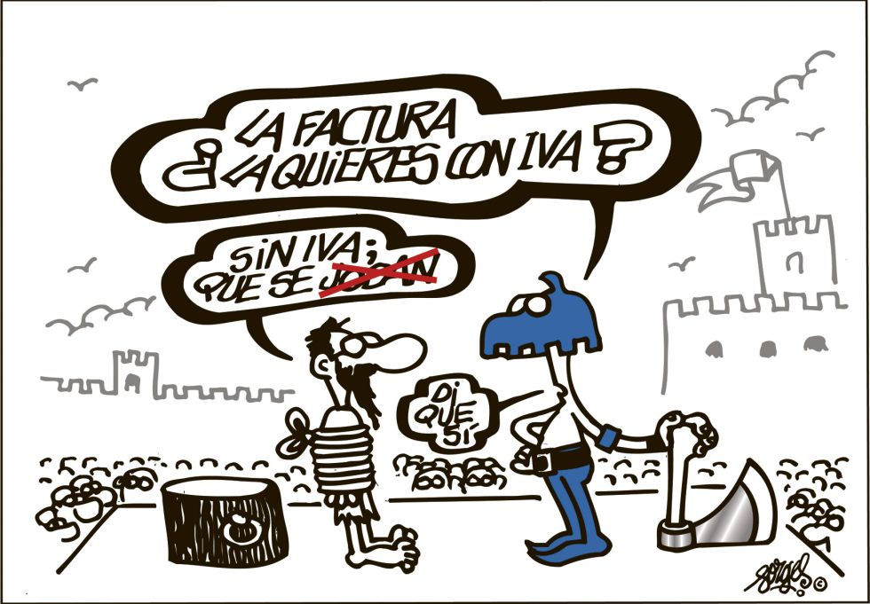 factura siempre con iva. forges