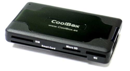 coolbox cre 065 lector tarjetas sim dnie usb
