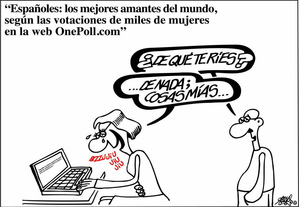 españoles los mejores amantes del mundo.forges