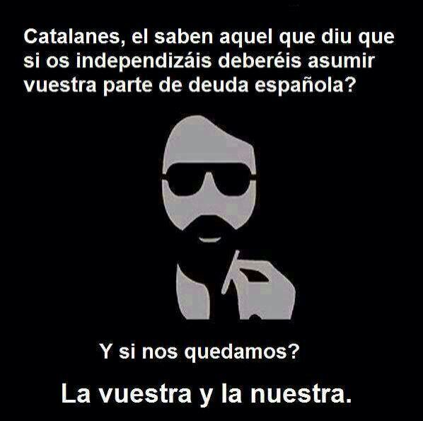 los catalanes y la deuda española