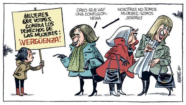 mujeres del pp que votan contra los derechos de las mujeres