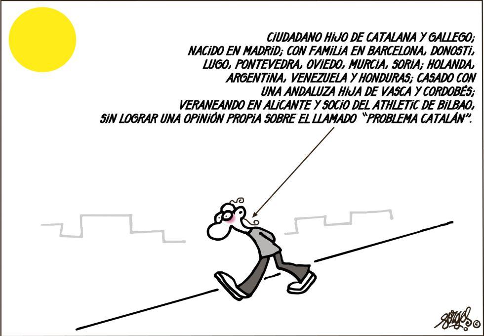 ciudadano sin opinion sobre el problema catalan.forges