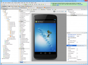 android studio hello world