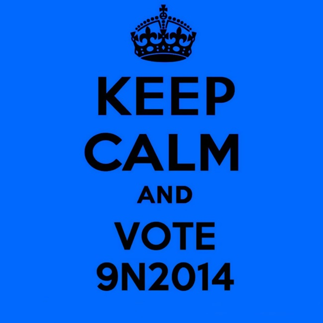 keep calm and vote 9N2014