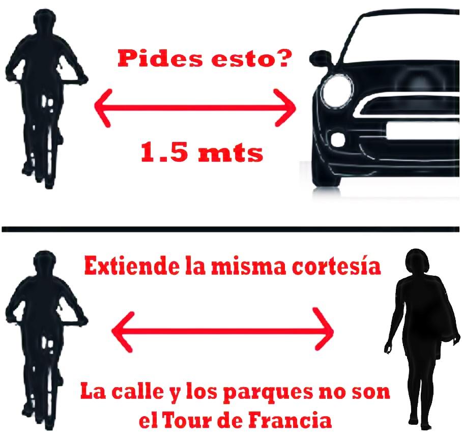 ciclistas distancia minima