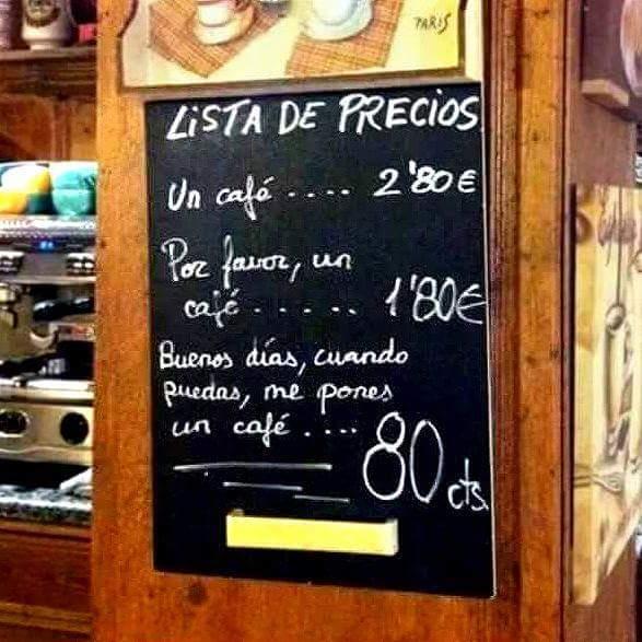 el cafe y los precios
